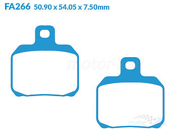 Brake pads EBC Sintered Superbike (Double H) FA266HH