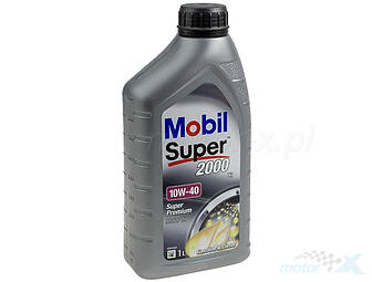 Engine Oil Mobil Super 2000 Semi-synthetic 4T 10W40 1L