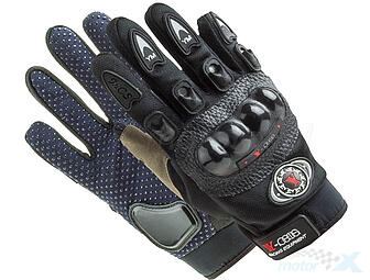 Motorcycle gloves reinforced