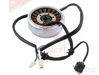 Stator magneto with a magnetic clutch and 2V49FMM 250 / QJ250 / LF250 / XV250