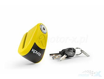 Brake disc lock with alarm Kovix KAL6 yellow
