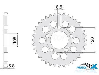 Front sprockets and accessories IGM str  2 - www motor-x com