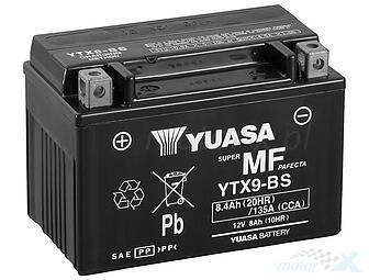 Yuasa YTX9-BS 12V 8Ah 135CCA Battery Sealed Acid Included