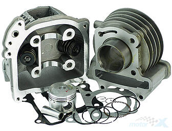 Cylinder Kit with cylinder head 47.00mm 80cm³ pin 13mm with SLS large valves 139QMB / QMA (GY6 50) 4T