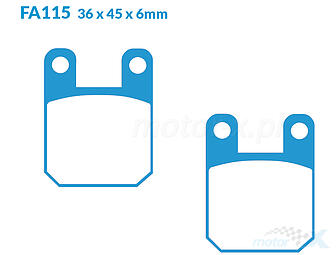 Brake pads EBC Sintered Superbike (Double H) FA115HH
