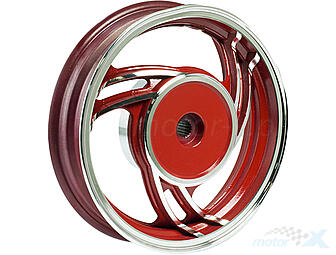 "Rim rear 2.15x10"" aluminum red, 19 cutters"