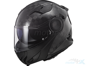 XL Casco moto LS2 FF313 VORTEX CARBON Nero