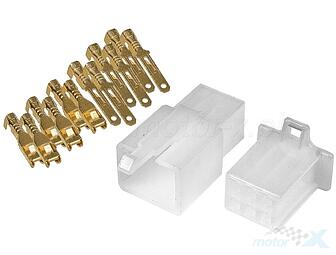 Electrical connector cube, 6 pins