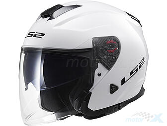 Open face helmet LS2 OF521 Infinity Solid White