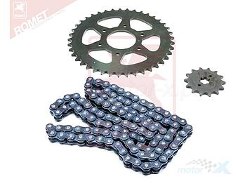 Rear sprocket + Bajaj Pulsar RS 200 chain