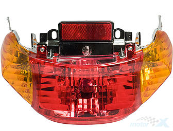 Tail light assy orange lens Barton 21 / GTR / Toros F16