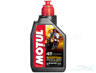 Engine Oil MOTUL Scooter Power 4T MA Synthetic 5W40 1L