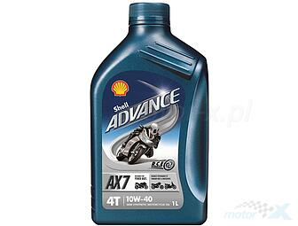 Engine Oil Shell Advance AX7 semi-synthetic 4T 10W40 1L
