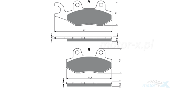 Keeway TX 50 Brake Disc Pads Rear R//H Goldfren 2010