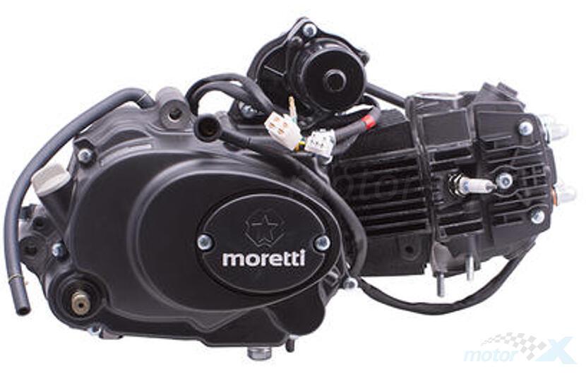 Silnik kompletny z gaźnikiem 125cm³ sprzęgło automatyczne 4 biegi 154FMI 4T AC Moretti
