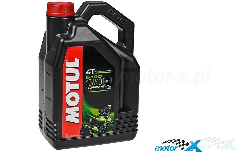 Olej silnikowy MOTUL 5100 Technosynthese półsyntetyczny 4T 10W40 4L