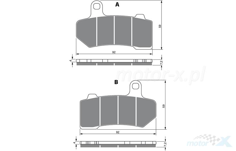 Brake pads Gold Fren 271 S3 - www motor-x com - Online store