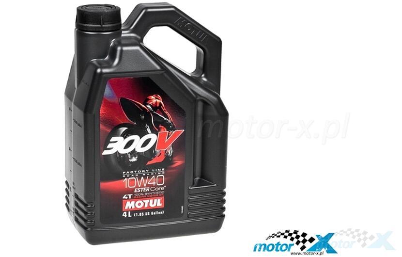 Olej silnikowy MOTUL 300V Factory Line Racing syntetyczny 4T 10W40 4L