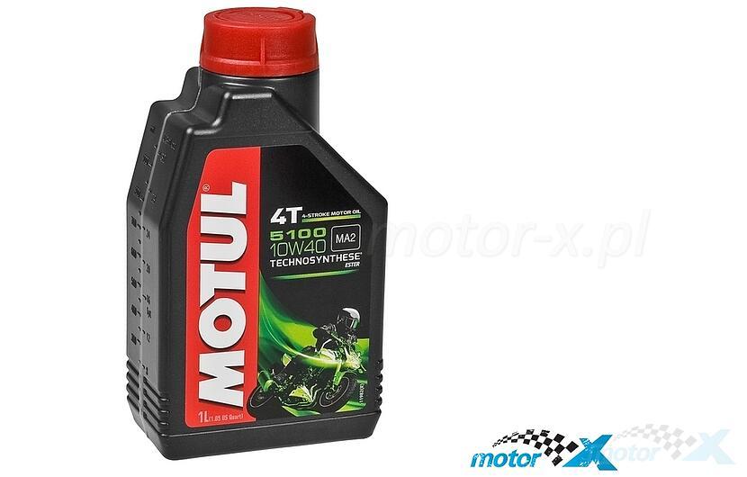 Olej silnikowy MOTUL 5100 Technosynthese półsyntetyczny 4T 10W40 1L