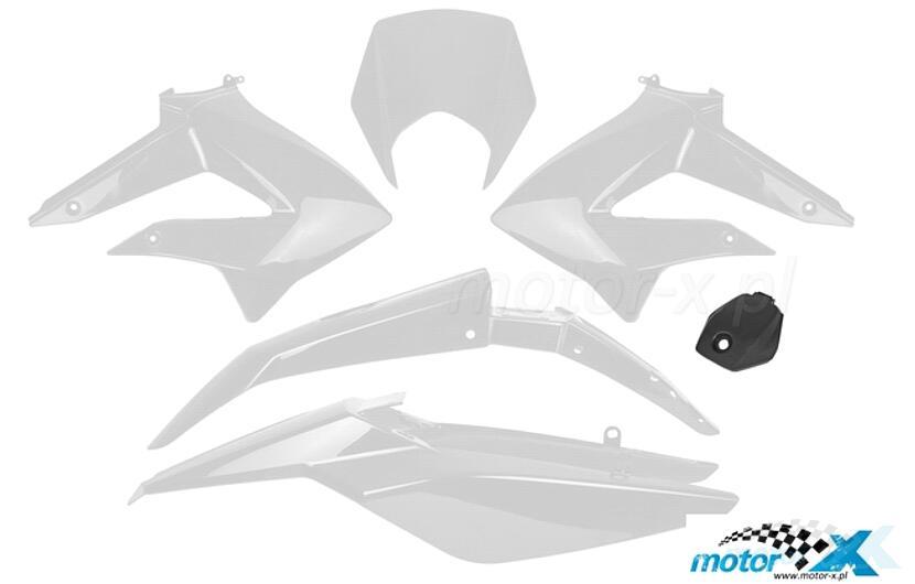 Komplet plastików TNT, 6 elementów, biały, Derbi Senda DRD 10- / Gilera RCR, SMT 11-