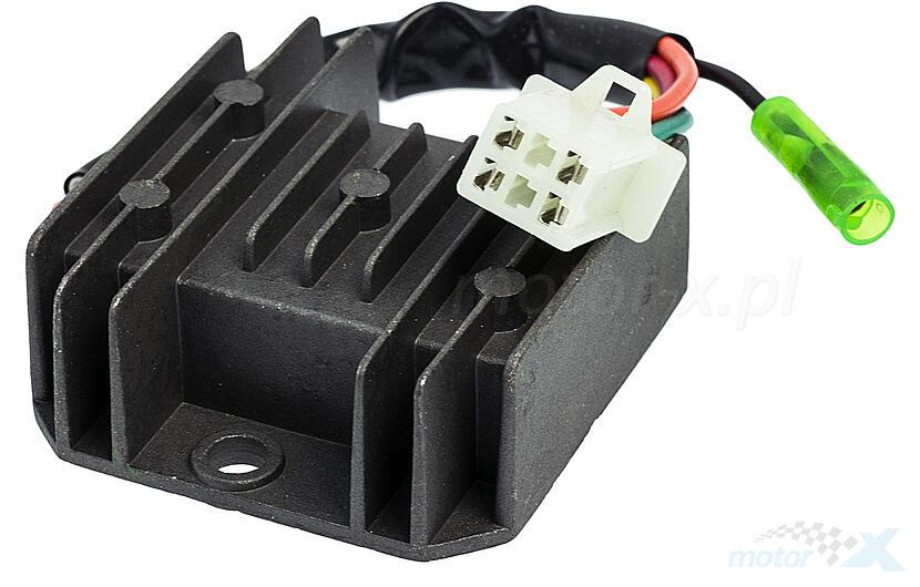Voltage Regulator 4-pin female / 5 wires - www motor-x com