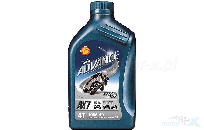 Olej silnikowy Shell Advance AX7 półsyntetyczny 4T 10W40 1L