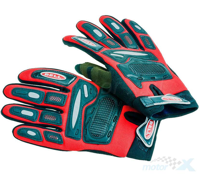 Rękawice motocyklowe czerwono-czarne