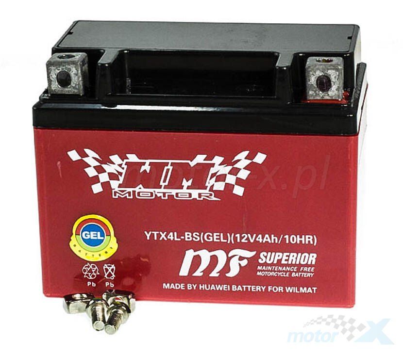 OutDo YTX4L-BS batterie de gel 12V 4Ah