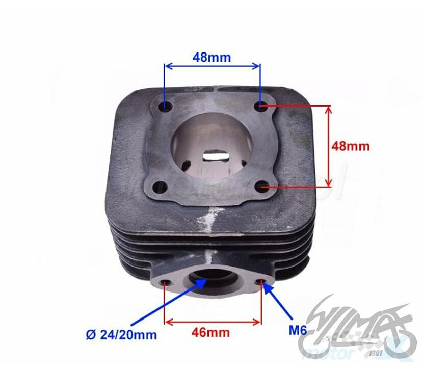 Cylinder kompleny 50cm³ Piaggio ZIP 2T