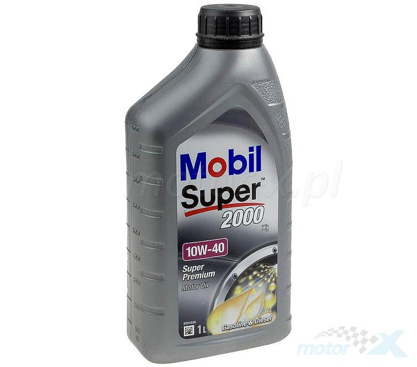 Olej silnikowy Mobil Super 2000 półsyntetyczny 4T 10W40 1L