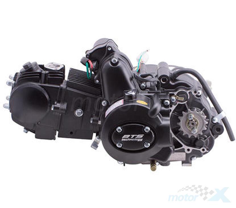 Silnik kompletny, 4 biegi, manualna skrzynia biegów, czarny BTS 125cm³ 154FMI 4T AC