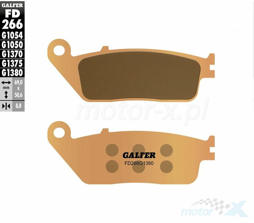 Front Brake Pads for Yamaha WR250X 2008 2009 2010 2011 3D7-W0045-10-00