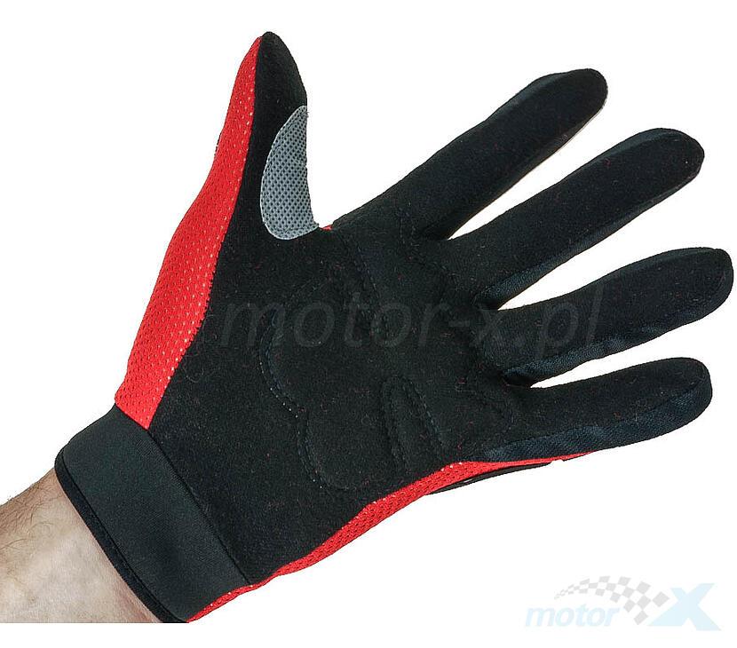 Rękawice motocyklowe czerwone Fox