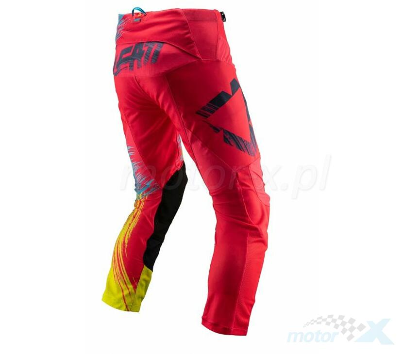 Spodnie Leatt Cross GPX 4.5 czerwono/limonkowe M