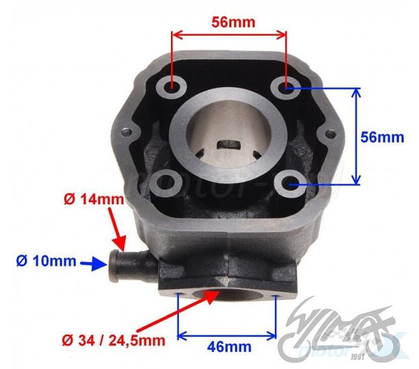 Cylinder kompletny  Derbi Senda / GPR -2005 (EBE / EBS)