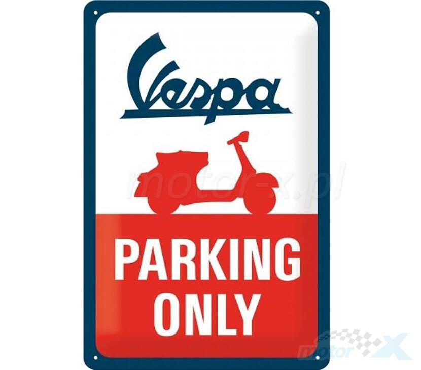 Vespa Parking Only Blechschild