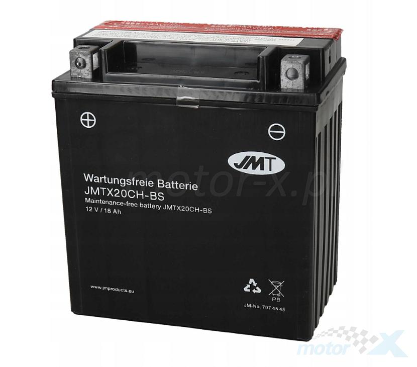 Akumulator bezobsługowy bez kwasu JMT JMTX20CH-BS (YTX20CH-BS) 150x87x161mm 12V 18Ah 270CCA