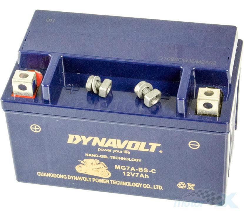 Akumulator żelowy Dynavolt MG7A-BS-C (YTX7A-BS) 151x87x94mm 12V 7Ah 100CCA