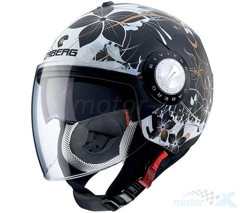 Caberg Helmet Riviera v3 Jet Helmet Matt Black Motorcycle Scooter Bike Helmet Quad