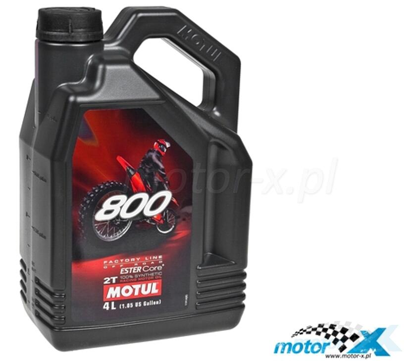 Olej 2T Motul 800 Factory Line Off Road do mieszanki syntetyczny 4L