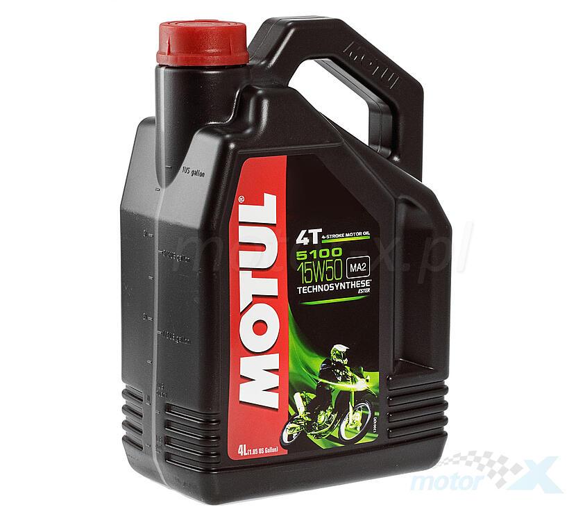 Olej silnikowy MOTUL 5100 Technosynthese Ester półsyntetyczny 4T 15W50 4L