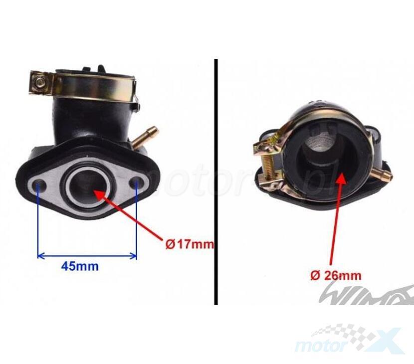 Króciec ssący 1 podciśnienie 139QMB/QMA (GY6 50) 4T
