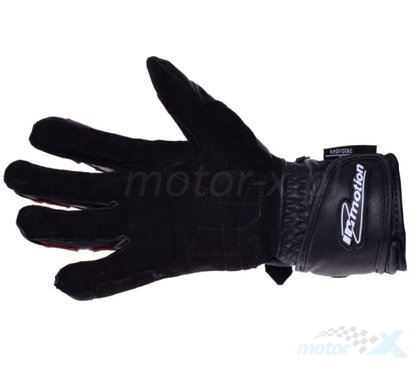 Rękawice motocyklowe IM czarno czerwone kevlar
