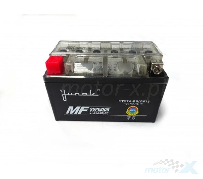 Akumulator żelowy Junak YTX7A-BS 150x87x94mm 12V 7Ah