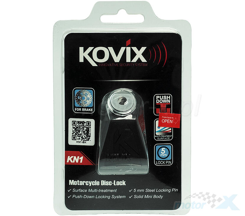 Blokada tarczy hamulcowej 6mm czarna KOVIX KN1