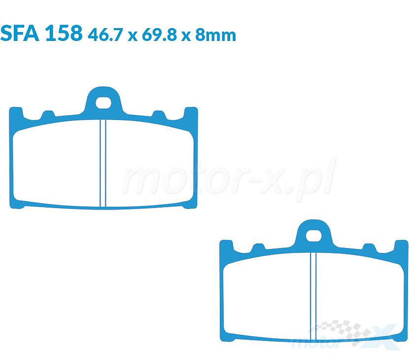 Kawasaki ZXR 750 R ZX750M2 1994 Full Set Sintered Brake Pads