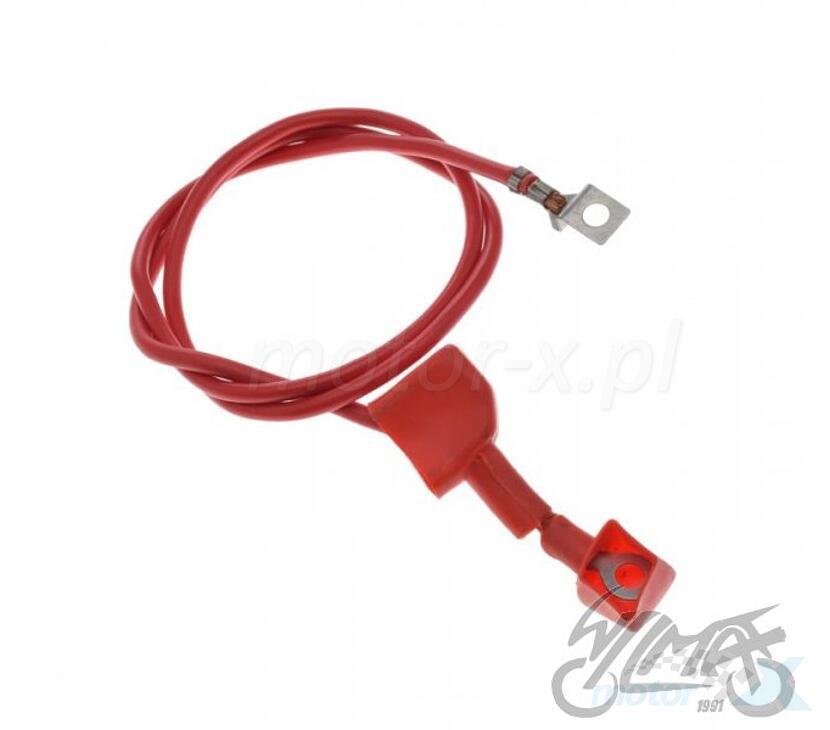 Przewód elektryczny akumulatora czerwony 80 cm z osłoną