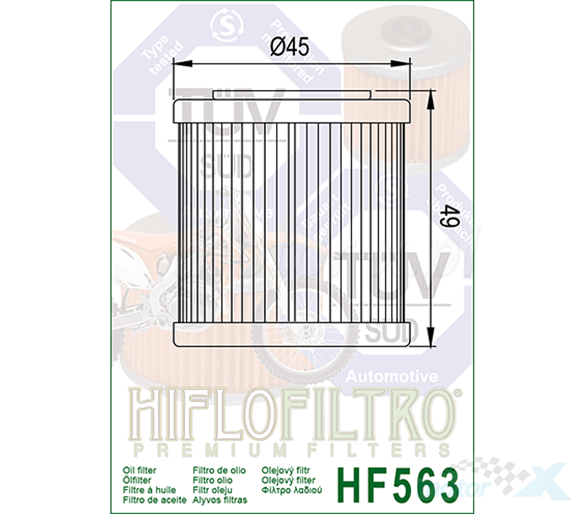 HiFlo HF563 Filtro olio