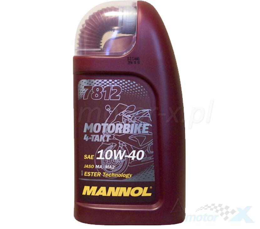 Olej silnikowy Mannol Motorbike 7812 półsyntetyczny MA2 4T 10W40 1L