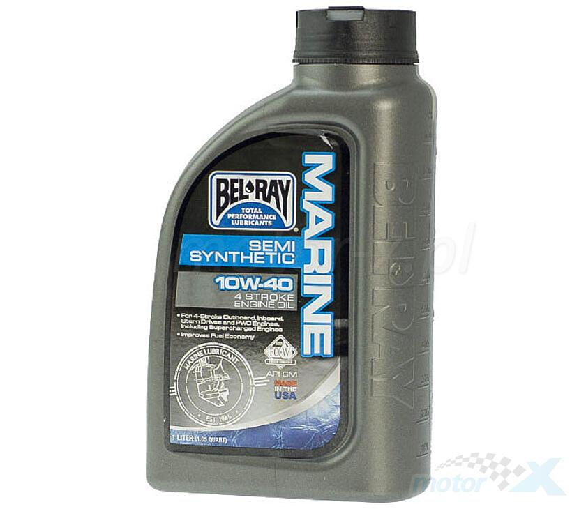 Olej silnikowy Bel-Ray Marine półsyntetyczny 4T 10W40 1L